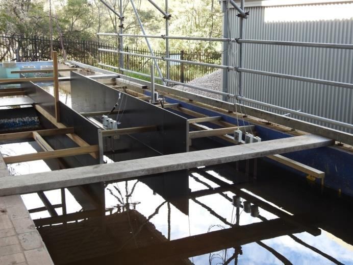 flume. The flume measures approximately 32.5 m in length, 3.0 m in width, and 1.3 m in depth (Figure 3).