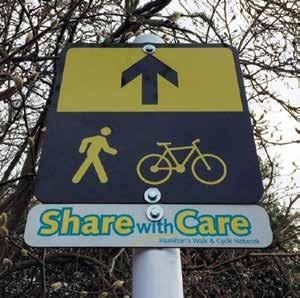 On road cycleway with