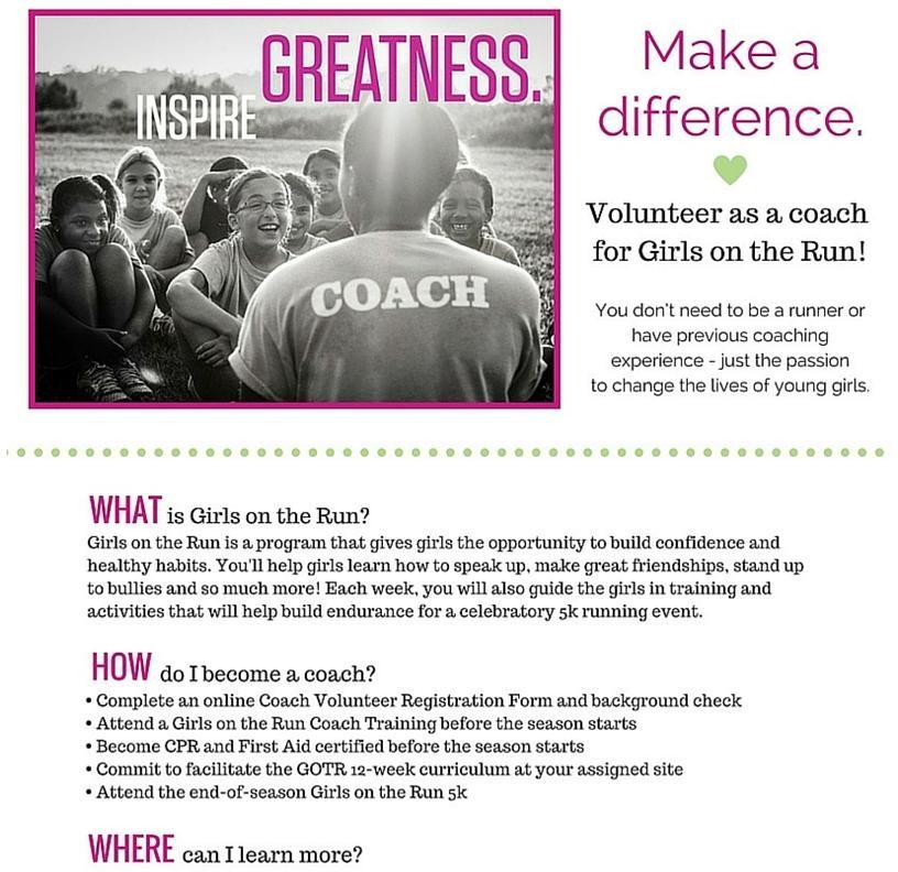 Girls on the Run Chicago COACHES: YOU DO NOT NEED TO BE A RUNNER!