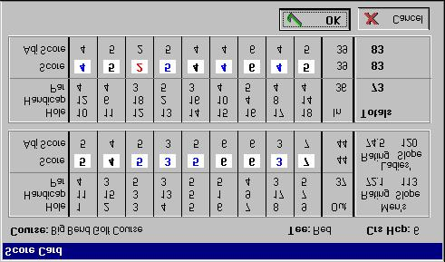 "Score Type If the score is a tournament score, type ""/"" (Slash) key or ""T"" while in the Adjusted Gross Score box. You can also click your mouse on the ""Tournament"" or ""Regular"" option."