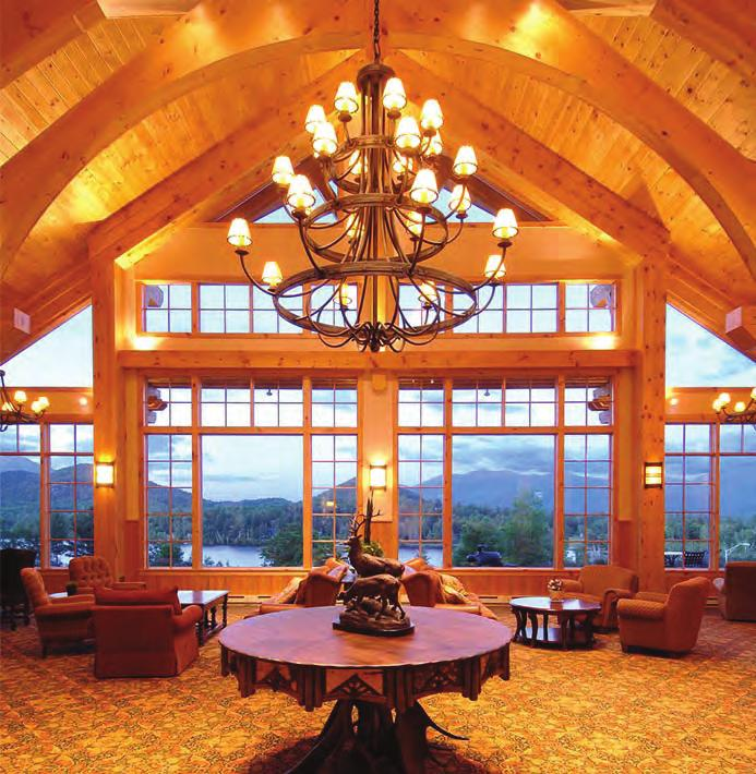 The Resort s Great Room Lobby & Bar RESORT & GOLF CLUB LAKE PLACID Overlooking the Lake.