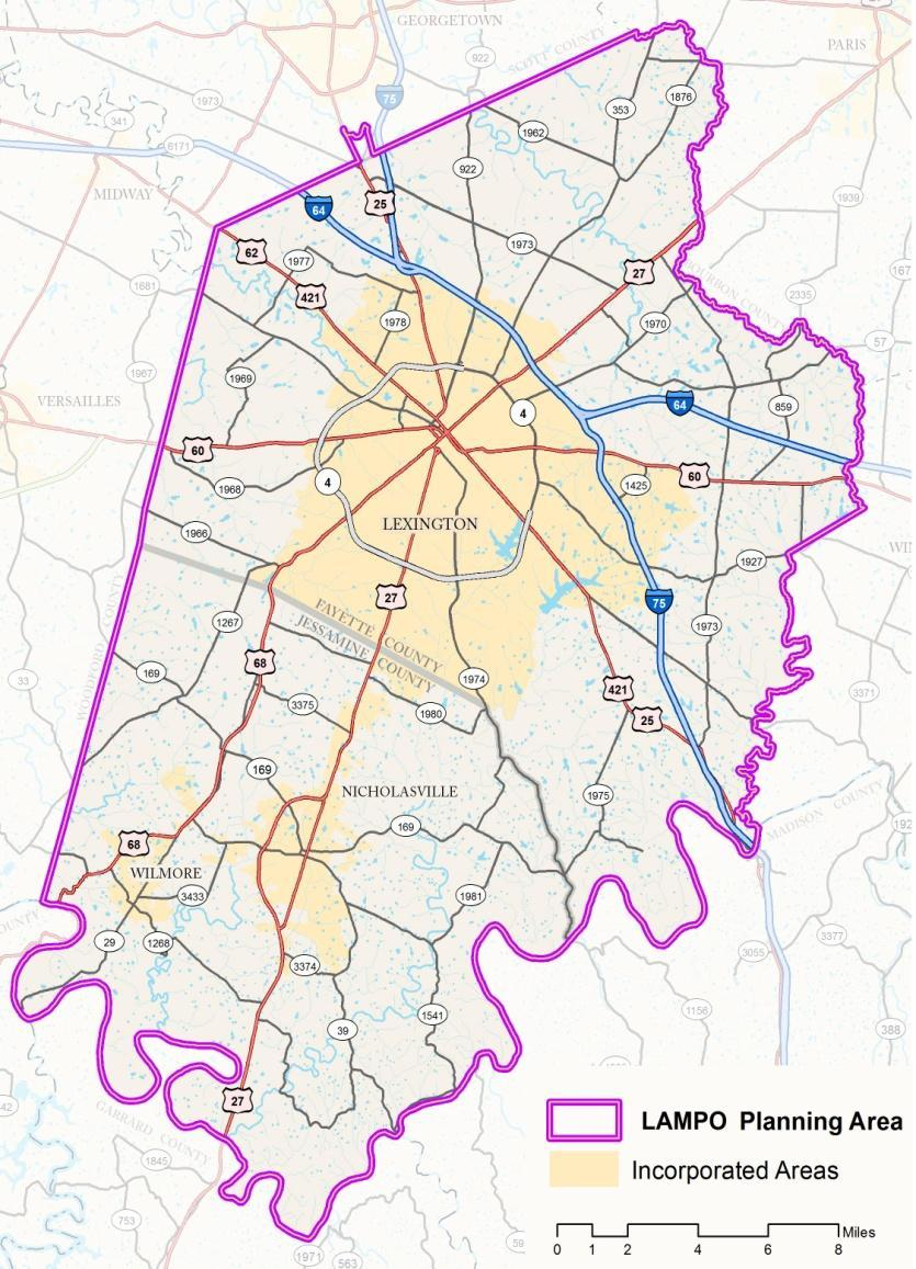 1.2 About the MPO Federal law requires all census urbanized areas with populations greater than 50,000 to designate a Metropolitan Planning Organization (MPO) to conduct transportation planning
