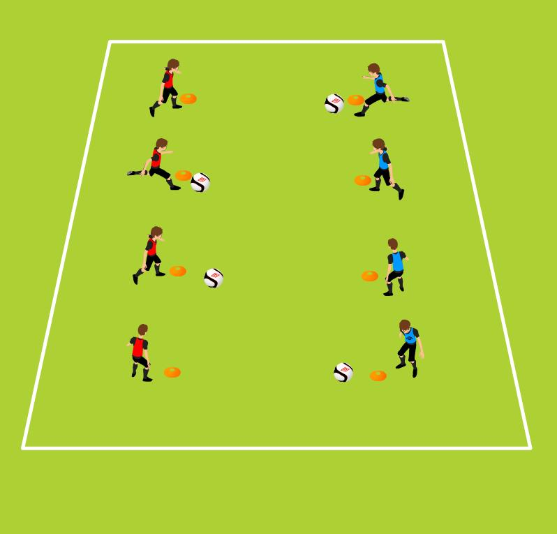 Week Two Warm Up Passing Marbles Improving Instep Passing 15 Minutes Start distance between passers 5 yards 14 cones, one ball per two players Two players with one ball Passing with instep, Receiving