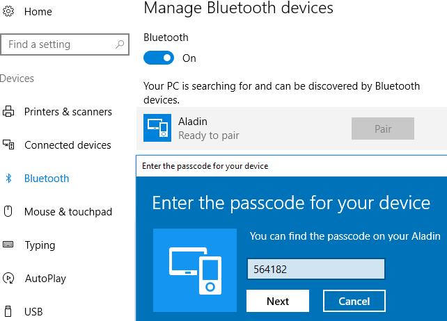 6. INTERACING WITH WINDOWS/MAC AND APPS 1. Press-and-hold the right button to activate Bluetooth advertising. 6.