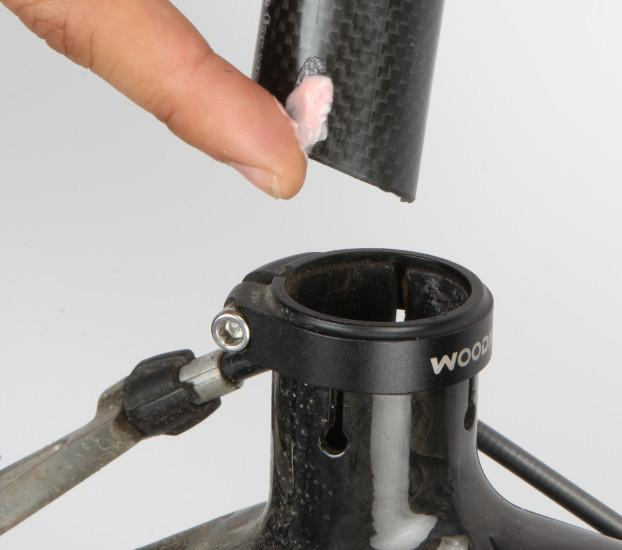 Fork, Stem and Handlebars: paint. Clean any debris on these components. threads in the stem.