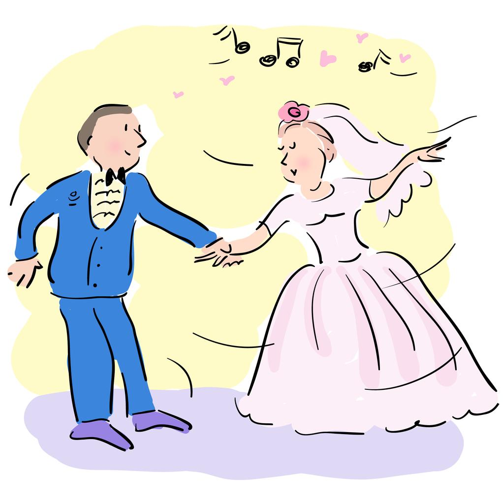 There are dances for the bride and