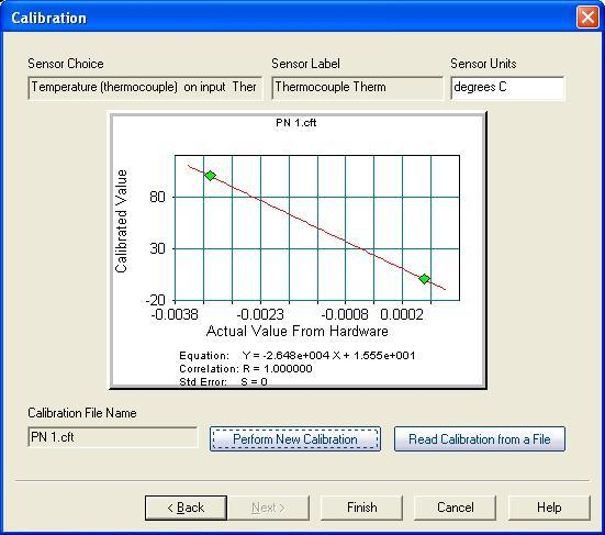 You should now see two points on a graph; to plot the calibration curve click on the First Order Linear option under Curve Fit Choices. 9.