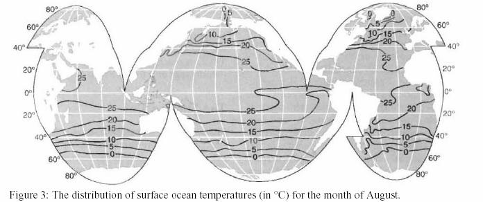 Regions, where there is no effective thermocline due to the colder surface waters, vertical circulation takes place as the surface waters sink to replenish deep waters in the major oceans.