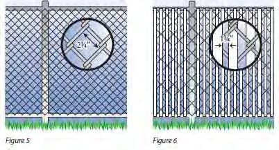 NOTE: By zoning ordinance, NEW chain link fences are not allowed. 151.006(8) AG105.2.