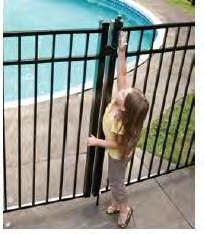 To prevent a young child from getting through a fence or other barrier, all openings shall be small enough so that a 4-inch diameter sphere cannot pass through.