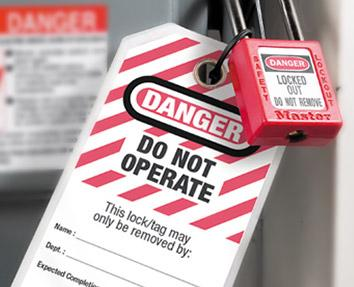 WORKPLACE LOCK OUT/TAG OUT OSHA 29 CFR 1910.