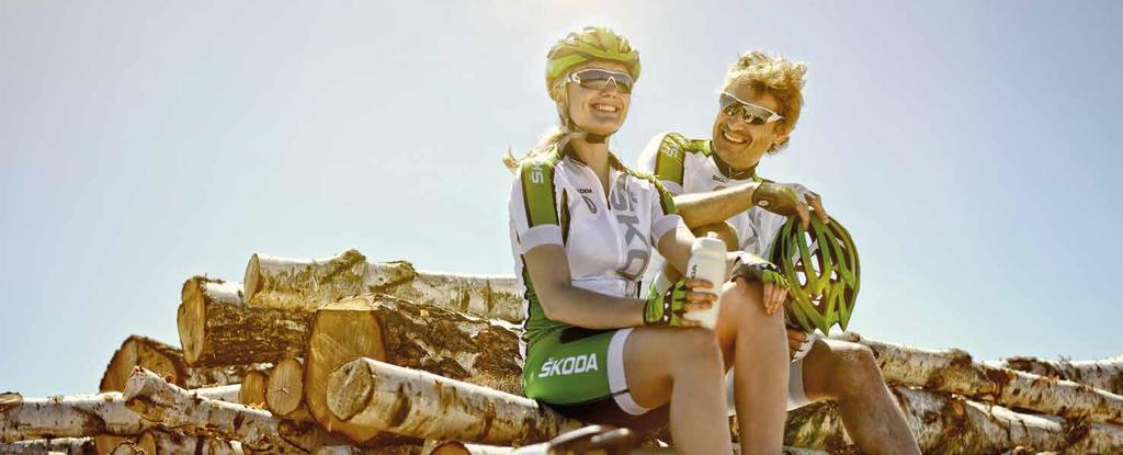 CYCLING APPAREL COLLECTION ŠKODA ŠKODA AUTO continues to offer the cycling accessories and clothing.