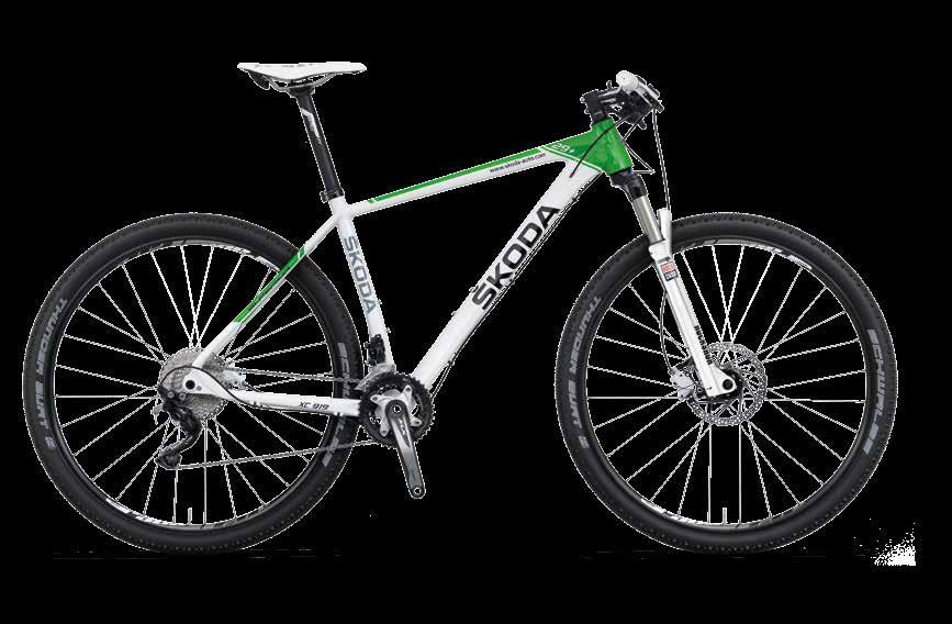 ŠKODA MTB 29+ The ŠKODA MTB 29+ mountain bicycle with the top frame geometry ensures great manoeuvrability and control,
