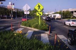 Intersections under stop or yield control should be designed to optimize flow along the Regional Street, while providing gaps to allow safe movements for side-street and non-motorized (bicycle and