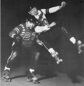 "In the 1970-80s, Roller Derby was replaced by Roller Games. Many of those skaters used newer inline skates rather than the 4-wheelers (""quads"")."