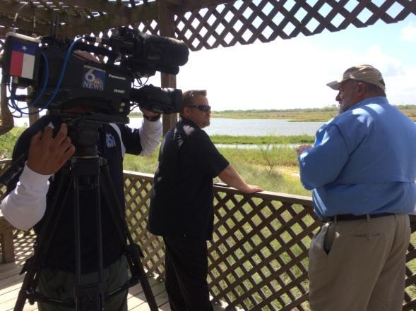 (PSA to Fish, Swim, Play 50 Yards Away) Videos (available on our website, YouTube, and Facebook) Nueces Bay Marsh