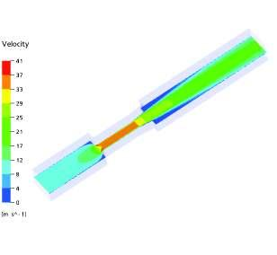 The flow conditions for this flow simulation are as follows: Fluid: air at 20 C Inlet velocity: 12.
