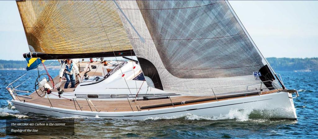 model of X-Yachts for sure. Both X-Yachts and ARCONA feature a rather more aggressive, sportive look and target the same sailors who seek sleek, stable, stiff and fast performing yachts.