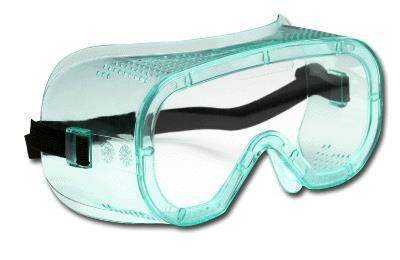 Safety Goggles Protects the eyes from spills,