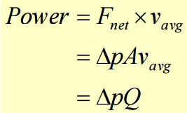 The formula that relates the power and other equations is: The unit is the Watt (N.