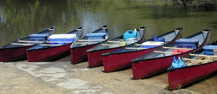 It is a 2-1/2 km portage from the parking lot to the lagoon. Our canoes will be waiting for us at the other end.