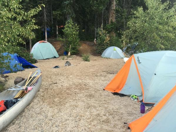 Possible campsites include Murtle Lagoon, Sandy Point, Author