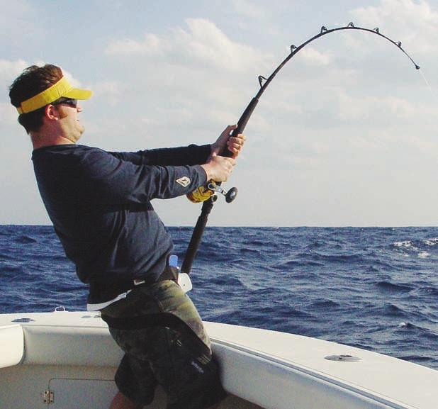 Penn Pro Staff, Greg Bogdan, commented after cranking in a few Spinner Sharks between 80 and 150-