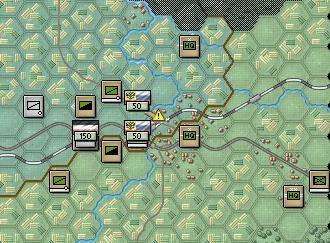 At this point, we should try to move around and isolate the German infantry unit, which will weaken it by isolation effects (morale loss) and will also cause it to eventually be low on ammo.
