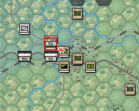 Left click back on the two Cossack units occupying hex 11,6.