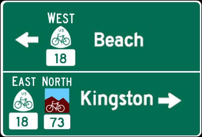 NCHRP 20-07, Task 350: U.S. Bicycle Route Signing Page 13 of 25 Destination signs.