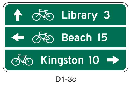 36 of the MUTCD provides the following option: Route shields and cardinal directions may be included on the Destination sign with the