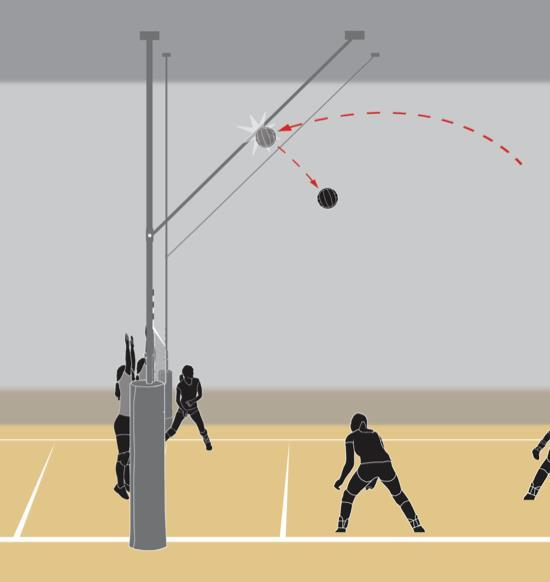 REPLAY RULE 9-8-1i Ball striking a pole used to retract a