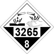 5. What hazard class is indicated by this placard? A. class 3265: infectious substances B. class 8: corrosives C.