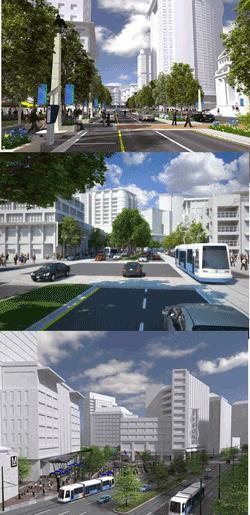 The Vision A livable urban center with: Trait-oriented development A variety of modes for trip making Fewer parking