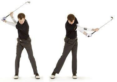 Lack of extension in the arms (a feeling of throwing the club down the target line) is also something that I see in many amateur golfers.