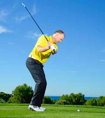 results in the arms separating from the body during the swing and the hands getting very flicky at impact. If you keep the upper arms closer to the body it will stabilise the arms and your swing.