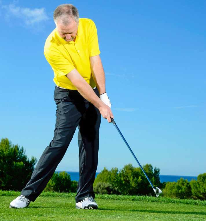 Drill 5 A solid LEFT WRIST Develop good body release with split hands This drill will help if your left wrist is prone to breaking down at impact, causing poor clubface control.