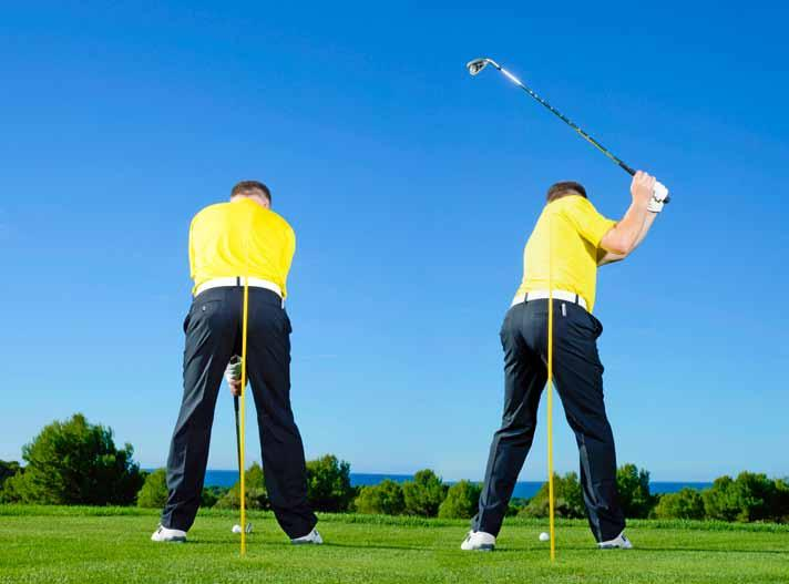 Once you re comfortable with this feeling you can remove the tee and hit shots.