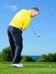 You should tilt your spine slightly away from the target at address because these clubs need to be struck with a level (or slightly upward for the driver) blow, as they have less loft and because the