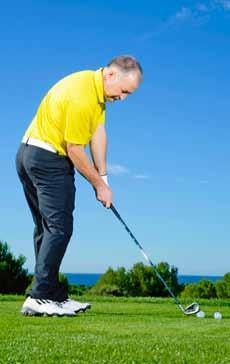 Tilt the club Hold the club vertically down from your sternum and tilt your spine until the grip touches the inside of your front leg to find the right amount of spine tilt for driver and fairway