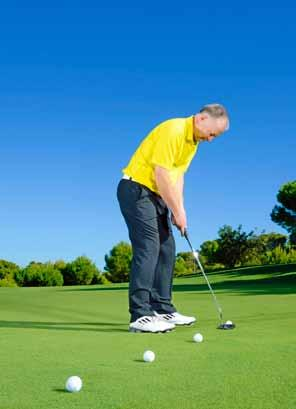 When you turn as if you are making the backswing your forearms should Good elbow position The elbows are in a very similar position to where they d be at the top of an on-plane backswing if you were