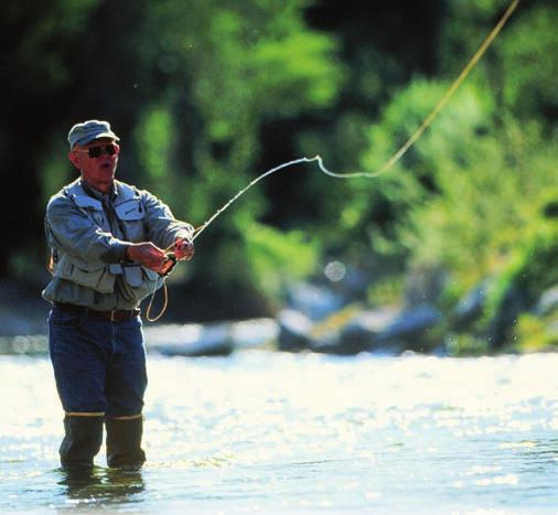 pristine mountain stream to go fishing. All is included in your stay at The Hideout.