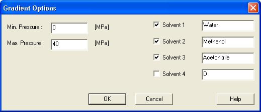 4 Using the control module Clarity Control Module 4.1.1 Gradient Options Invoke the Options... button in the Method Setup - LC Gradient dialog to open the Gradient Options dialog.