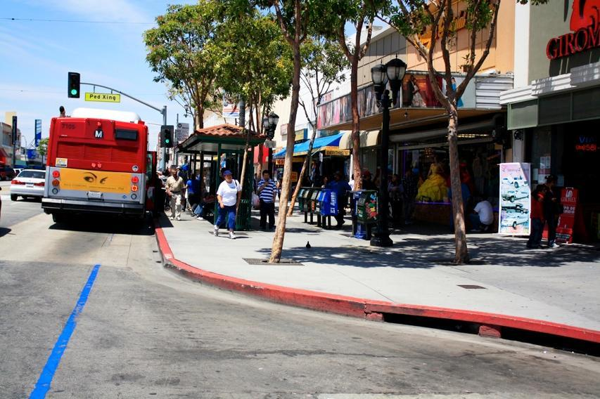 They also facilitate passenger boarding by allowing the bus to align directly with the curb; waiting passengers can enter the bus immediately after it has stopped.