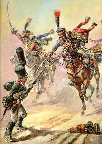 Like the infantry, cavalry fought in both line and column formations. There were two types of cavalry: a.