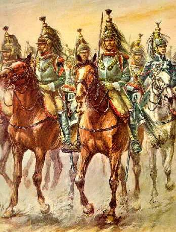 (cuirassiers and carabiniers) they had the same purpose.