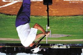 In an inside-out swing, the hitter will strive to to take the knob of the bat to