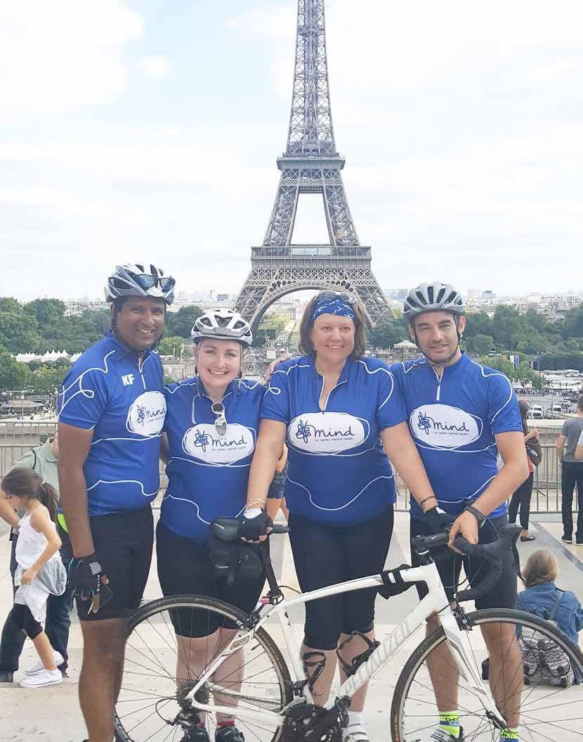 Tour de France 2018 London to Paris In partnership with 25 29 July 2018 Join Team Mind for the ride of your life - 4 days to cycle 300 miles across England