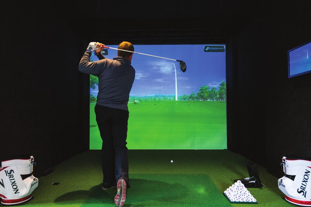 Herbert Fowler Indoor Golf Studio The Club is delighted to offer a state-ofthe-art golfing simulator facility, the Herbert Fowler Indoor Golf Studio to enhance your golf day.