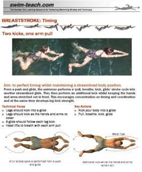 Example swimming exercise The page layout for each exercise follows the same format, keeping all relevant informa on on one page.
